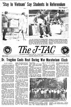 Primary view of object titled 'The J-TAC (Stephenville, Tex.), Vol. 50, No. 6, Ed. 1 Tuesday, October 21, 1969'.