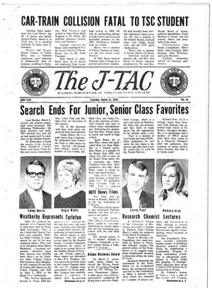 Primary view of object titled 'The J-TAC (Stephenville, Tex.), Vol. 50, No. 18, Ed. 1 Tuesday, March 17, 1970'.