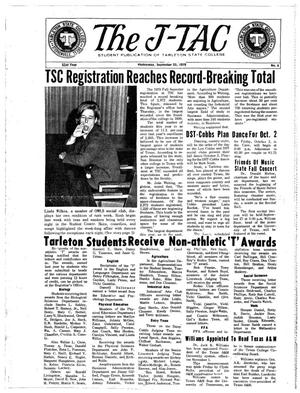 The J-TAC (Stephenville, Tex.), Vol. 51, No. 4, Ed. 1 Wednesday, September 23, 1970