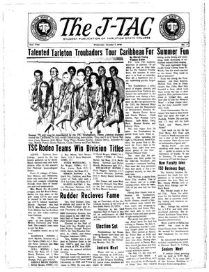 The J-TAC (Stephenville, Tex.), Vol. 51, No. 5, Ed. 1 Wednesday, October 7, 1970
