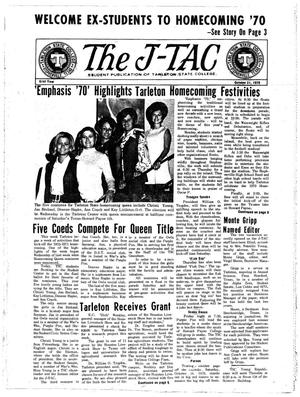 Primary view of object titled 'The J-TAC (Stephenville, Tex.), Vol. 51, No. 6, Ed. 1 Wednesday, October 21, 1970'.