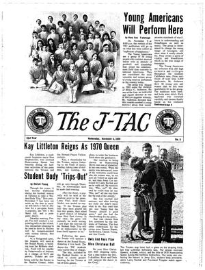 Primary view of object titled 'The J-TAC (Stephenville, Tex.), Vol. 51, No. 8, Ed. 1 Wednesday, November 4, 1970'.