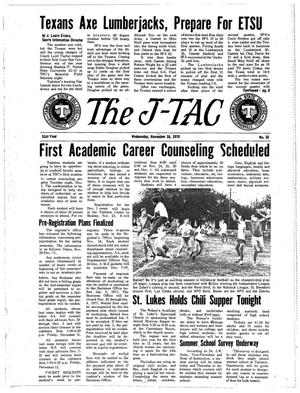Primary view of object titled 'The J-TAC (Stephenville, Tex.), Vol. 51, No. 10, Ed. 1 Wednesday, November 18, 1970'.