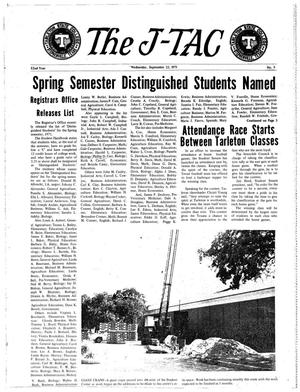 Primary view of object titled 'The J-TAC (Stephenville, Tex.), Vol. 52, No. 5, Ed. 1 Wednesday, September 22, 1971'.
