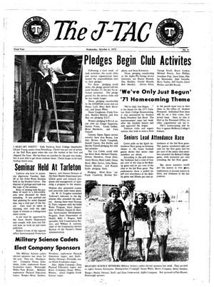 The J-TAC (Stephenville, Tex.), Vol. 52, No. 6, Ed. 1 Wednesday, October 6, 1971