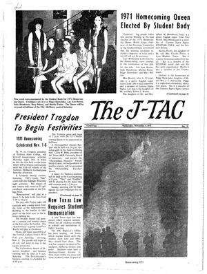 Primary view of object titled 'The J-TAC (Stephenville, Tex.), Vol. 52, No. 9, Ed. 1 Wednesday, November 3, 1971'.