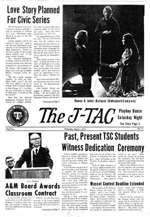Primary view of object titled 'The J-TAC (Stephenville, Tex.), Vol. 53, No. 17, Ed. 1 Wednesday, March 1, 1972'.
