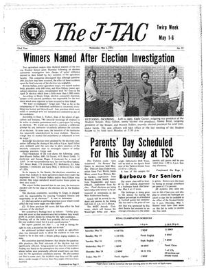 Primary view of object titled 'The J-TAC (Stephenville, Tex.), Vol. 53, No. 22, Ed. 1 Wednesday, May 3, 1972'.