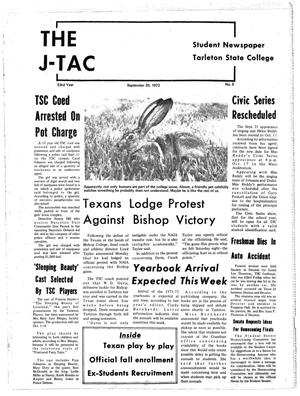 Primary view of object titled 'The J-TAC (Stephenville, Tex.), Vol. 53, No. 5, Ed. 1 Wednesday, September 20, 1972'.