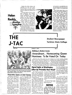 Primary view of object titled 'The J-TAC (Stephenville, Tex.), Vol. 53, No. 7, Ed. 1 Wednesday, October 11, 1972'.