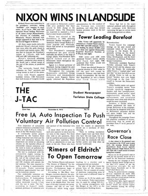 Primary view of object titled 'The J-TAC (Stephenville, Tex.), Vol. 53, No. 10, Ed. 1 Wednesday, November 8, 1972'.