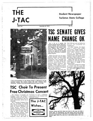 Primary view of object titled 'The J-TAC (Stephenville, Tex.), Vol. 53, No. 12, Ed. 1 Wednesday, November 22, 1972'.