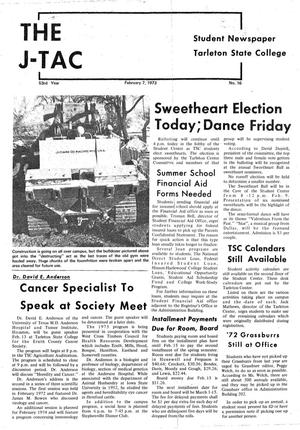 The J-TAC (Stephenville, Tex.), Vol. 53, No. 16, Ed. 1 Wednesday, February 7, 1973