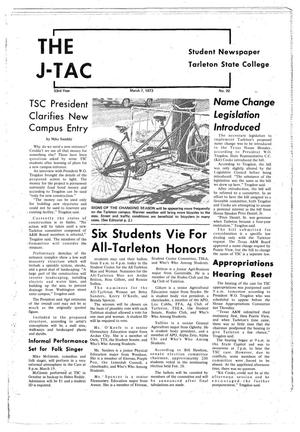 Primary view of object titled 'The J-TAC (Stephenville, Tex.), Vol. 53, No. 20, Ed. 1 Wednesday, March 7, 1973'.