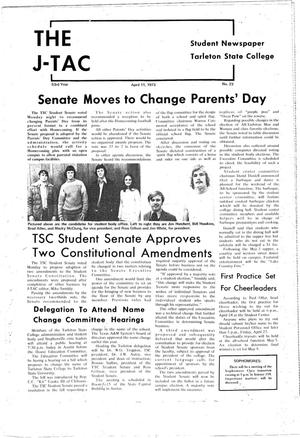 The J-TAC (Stephenville, Tex.), Vol. 53, No. 23, Ed. 1 Wednesday, April 11, 1973