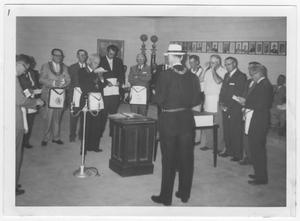 Primary view of object titled 'Dedication Ceremony of Culberson Masonic Lodge'.