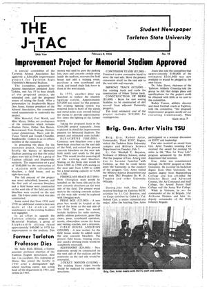 Primary view of object titled 'The J-TAC (Stephenville, Tex.), Vol. 54, No. 14, Ed. 1 Wednesday, February 6, 1974'.