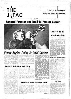 The J-TAC (Stephenville, Tex.), Vol. 54, No. 16, Ed. 1 Wednesday, February 20, 1974