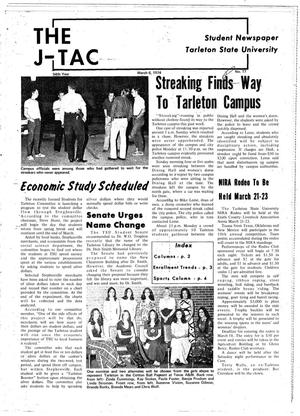 Primary view of object titled 'The J-TAC (Stephenville, Tex.), Vol. 54, No. 17, Ed. 1 Wednesday, March 6, 1974'.