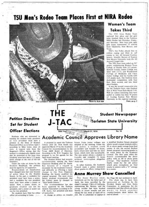 Primary view of object titled 'The J-TAC (Stephenville, Tex.), Vol. 54, No. 18, Ed. 1 Wednesday, March 27, 1974'.