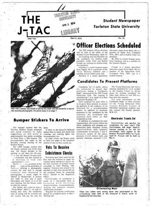 Primary view of object titled 'The J-TAC (Stephenville, Tex.), Vol. 54, No. 19, Ed. 1 Wednesday, April 3, 1974'.