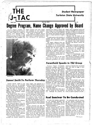 The J-TAC (Stephenville, Tex.), Vol. 54, No. 21, Ed. 1 Wednesday, April 24, 1974