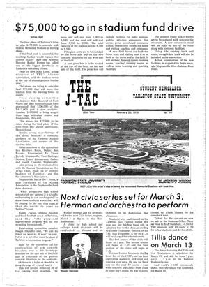 Primary view of object titled 'The J-TAC (Stephenville, Tex.), Vol. 55, No. 19, Ed. 1 Thursday, February 20, 1975'.