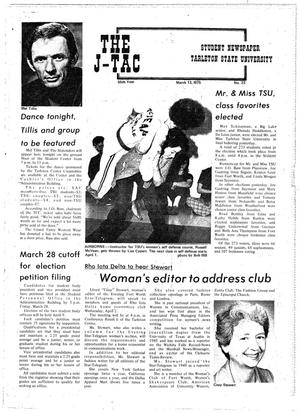 The J-TAC (Stephenville, Tex.), Vol. 55, No. 22, Ed. 1 Thursday, March 13, 1975