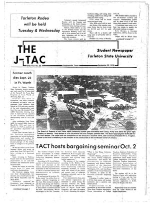 Primary view of object titled 'The J-TAC (Stephenville, Tex.), Vol. 57, No. 20, Ed. 1 Thursday, September 30, 1976'.