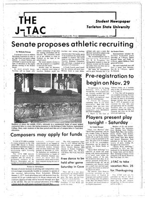 Primary view of object titled 'The J-TAC (Stephenville, Tex.), Vol. 57, No. 27, Ed. 1 Thursday, November 18, 1976'.