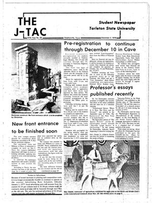 Primary view of object titled 'The J-TAC (Stephenville, Tex.), Vol. 57, No. 28, Ed. 1 Thursday, December 2, 1976'.