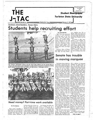 Primary view of object titled 'The J-TAC (Stephenville, Tex.), Vol. 58, No. 2, Ed. 1 Thursday, February 3, 1977'.