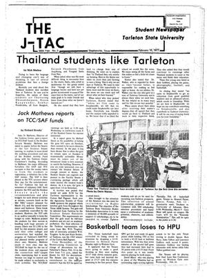 The J-TAC (Stephenville, Tex.), Vol. 58, No. 3, Ed. 1 Thursday, February 10, 1977
