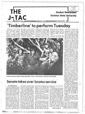 Primary view of object titled 'The J-TAC (Stephenville, Tex.), Vol. 58, No. 5, Ed. 1 Thursday, February 24, 1977'.