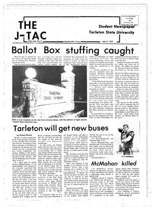 Primary view of object titled 'The J-TAC (Stephenville, Tex.), Vol. 58, No. 9, Ed. 1 Thursday, April 7, 1977'.