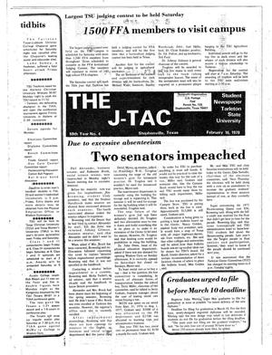 Primary view of object titled 'The J-TAC (Stephenville, Tex.), Vol. 59, No. 4, Ed. 1 Thursday, February 16, 1978'.