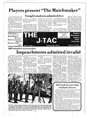 Primary view of object titled 'The J-TAC (Stephenville, Tex.), Vol. 59, No. 5, Ed. 1 Thursday, February 23, 1978'.