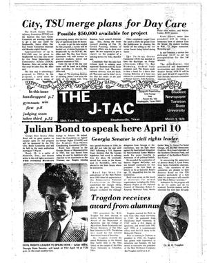 Primary view of object titled 'The J-TAC (Stephenville, Tex.), Vol. 59, No. 7, Ed. 1 Thursday, March 9, 1978'.