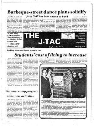 Primary view of object titled 'The J-TAC (Stephenville, Tex.), Vol. 59, No. 8, Ed. 1 Thursday, March 30, 1978'.