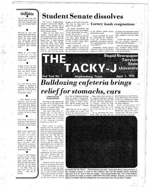 Primary view of object titled 'The J-TAC (Stephenville, Tex.), Vol. 59, No. 8, Ed. 2 Thursday, March 30, 1978'.