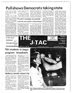 Primary view of object titled 'The J-TAC (Stephenville, Tex.), Vol. 59, No. 23, Ed. 1 Thursday, November 2, 1978'.