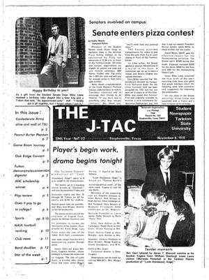 Primary view of object titled 'The J-TAC (Stephenville, Tex.), Vol. 59, No. 24, Ed. 1 Thursday, November 9, 1978'.