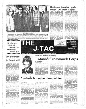 Primary view of object titled 'The J-TAC (Stephenville, Tex.), Vol. 60, No. 2, Ed. 1 Thursday, February 1, 1979'.