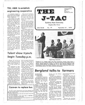 Primary view of object titled 'The J-TAC (Stephenville, Tex.), Vol. 60, No. 18, Ed. 1 Thursday, September 27, 1979'.