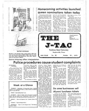 Primary view of object titled 'The J-TAC (Stephenville, Tex.), Vol. 60, No. 21, Ed. 1 Thursday, October 18, 1979'.
