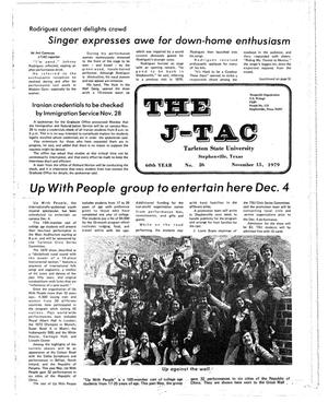Primary view of object titled 'The J-TAC (Stephenville, Tex.), Vol. 60, No. 25, Ed. 1 Thursday, November 15, 1979'.