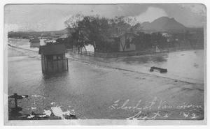 Primary view of object titled '[T&P Section House in Van Horn During the 1913 Flood]'.