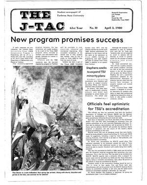 The J-TAC (Stephenville, Tex.), Vol. 61, No. 10, Ed. 1 Thursday, April 3, 1980