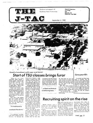 Primary view of object titled 'The J-TAC (Stephenville, Tex.), Ed. 1 Thursday, September 4, 1980'.