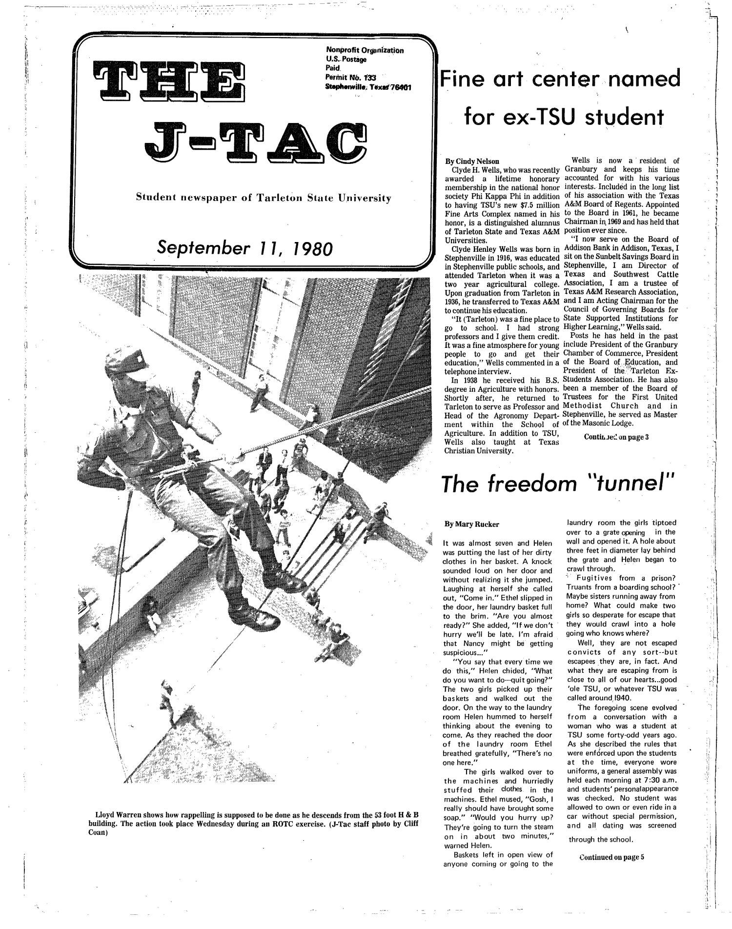 The J-TAC (Stephenville, Tex.), Ed. 1 Thursday, September 11, 1980                                                                                                      [Sequence #]: 1 of 12